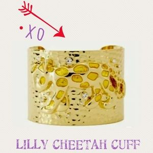 LILLY PURLITZER GOLD METALLIC CHEETAH CUFF